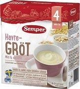 Semper - Инстантна млечна каша с овес - Опаковка от 480 g за бебета над 4 месеца - продукт