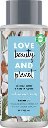 "Love Beauty and Planet Volume and Bounty Shampoo - Шампоан за обем за тънка коса от серията ""Coconut Water & Mimosa Flower"" -"