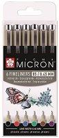 Цветни тънкописци - Pigma Micron 05 - Комплект от 6 цвята