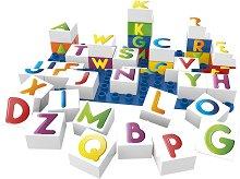 """Латински букви - Детски образователен конструктор от био пластмаса : От серията """"Learning"""" -"""