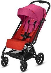 Комбинирана бебешка количка - Eezy S+ 2019: Fancy Pink - С 4 колела - количка