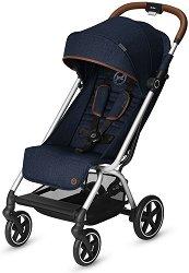 Комбинирана бебешка количка - Eezy S+ Denim 2019 - С 4 колела -