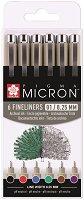 """Цветни тънкописци - Комплект от 6 цвята от серията """"Pigma Micron"""""""