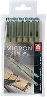 """Тънкописци - Комплект от 6 броя от серията """"Pigma Micron"""""""