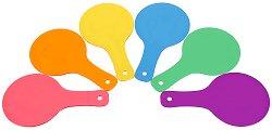 Прозрачни цветни палки - Образователен комплект от 6 броя -