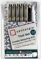 """Тънкописци - Комплект с молив от серията """"Zentangle"""""""