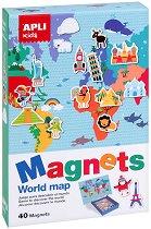Карта на света - Детски комплект за игра с магнити -