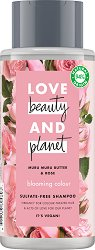 "Love Beauty and Planet Blooming Colour Shampoo - Шампоан за боядисана коса от серията ""Murumuru Butter & Rose"" -"