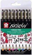 Цветни маркери с връх тип четка - Pigma Brush - Комплект от 9 цвята