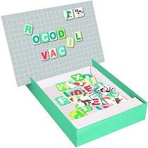 """Спелувай с латински букви - Животни - Детски образователен комплект с магнити от серията """"Magnets"""" -"""