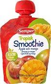 Semper - Смути тропик ябълка и манго - Опаковка от 90 g за бебета над 6 месеца - продукт