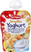 Semper - Смути йогурт, банан и кайсия - Опаковка от 90 g за бебета над 6 месеца - продукт