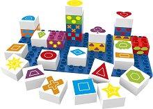 """Геометрични фигури и символи - Детски образователен конструктор от био пластмаса : От серията """"Learning"""" -"""