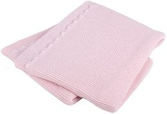 Бебешко памучно плетено одеяло - Размер 75 x 100 cm -