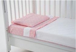 Спален комплект за бебешко креватче - Polka Dots - 3 части -