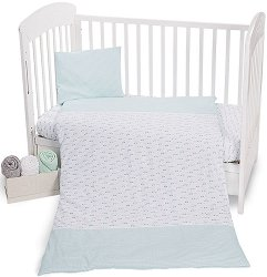 Спален комплект за бебешко креватче - 5 части -