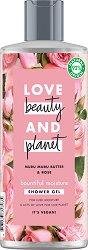 """Love Beauty and Planet Bountiful Moisture Shower Gel - Хидратиращ душ гел за суха кожа с аромат на роза от серията """"Murumuru Butter & Rose"""" -"""