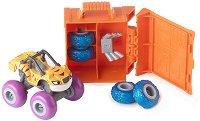"""Тигър с преносим автосервиз - 2 в 1 - Комплект от серията """"Пламъчко и машините"""" -"""