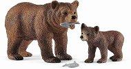 """Мечка гризли с малкото си - Комплект фигури от серията """"Животни от дивия свят"""" - фигура"""