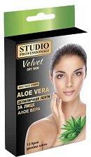 Studio Professionali Wax Face Strips Aloe Vera - Депилиращи ленти за лице с алое вера - опаковка от 12 броя - продукт