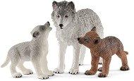 """Вълчица с малките си - Комплект фигури от серията """"Животни от дивия свят"""" - фигура"""