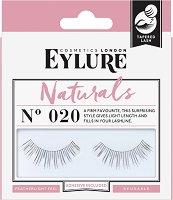 Eylure Naturals 020 - Мигли от естествен косъм в комплект с лепило -