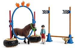 """Състезание за понита - Комплекти фигури и аксесоари от серията """"Животните от фермата"""" - фигура"""