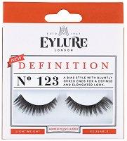 Eylure Definition 123 - Мигли от естествен косъм в комплект с лепило -