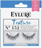 Eylure Texture 152 - Мигли от естествен косъм в комплект с лепило -