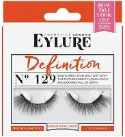 Eylure Definition 129 - Мигли от естествен косъм в комплект с лепило -