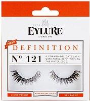 Eylure Definition 121 - Мигли от естествен косъм в комплект с лепило -