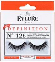 Eylure Definition 126 - Мигли от естествен косъм в комплект с лепило -