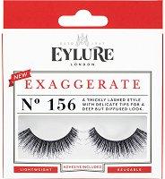 Eylure Exaggerate 156 - Мигли от естествен косъм в комплект с лепило -