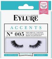 Eylure Accents 005 - Мигли от естествен косъм в комплект с лепило -
