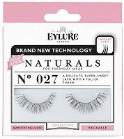 Eylure Naturals 027 - Мигли от естествен косъм в комплект с лепило -