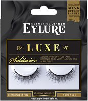 Eylure Luxe Solitaire - Изкуствени мигли в комплект с лепило -