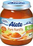 Alete - Био пюре от моркови - Бурканче от 125 g за бебета над 4 месеца - продукт