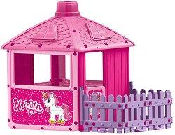 """Сглобяема къща с ограда за игра - Unicorn - От серията """"Еднорог"""" - играчка"""