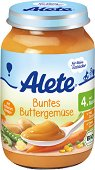 Alete - Био пюре от зеленчуци с масло - Бурканче от 190 g за бебета над 4 месеца - пюре