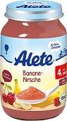 Alete - Био пюре от банан и череша - Бурканче от 190 g за бебета над 4 месеца - пюре