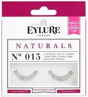 Eylure Naturals 015 - Мигли от естествен косъм в комплект с лепило -