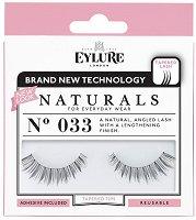 Eylure Naturals 033 - Мигли от естествен косъм в комплект с лепило -