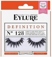 Eylure Definition 128 - Мигли от естествен косъм в комплект с лепило - продукт