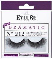 Eylure Dramatic 212 - Мигли от естествен косъм в комплект с лепило -