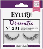 Eylure Dramatic 201 - Мигли от естествен косъм в комплект с лепило -
