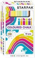 Цветни тебешири - Комплект от 10 броя
