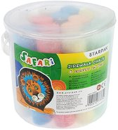 Цветни тебешири - Safari Jumbo - Комплект от 15 броя в пластмасова кофичка