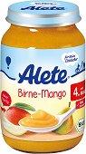 Alete - Био пюре от круша и манго - Бурканче от 190 g за бебета над 4 месеца - продукт