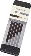 Графитни моливи - Комплект от 5 броя с различна твърдост в метална кутия