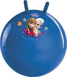 """Детска топка за скачане - Елза и Анна - От серията """"Замръзналото кралство"""" - творчески комплект"""